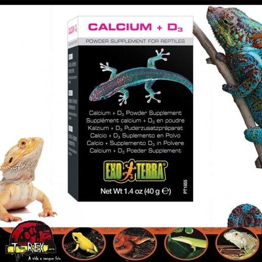 Cálcio Exoterra com Vitamina D3 Répteis
