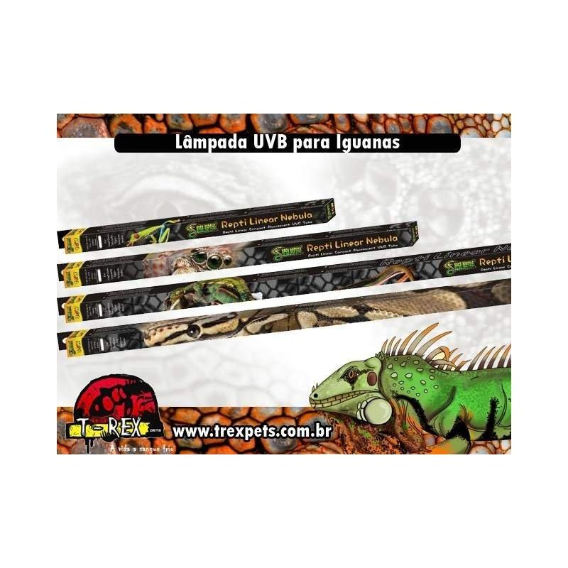 Lâmpada UVB para Iguana